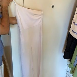 Leith White One Shoulder Jumpsuit